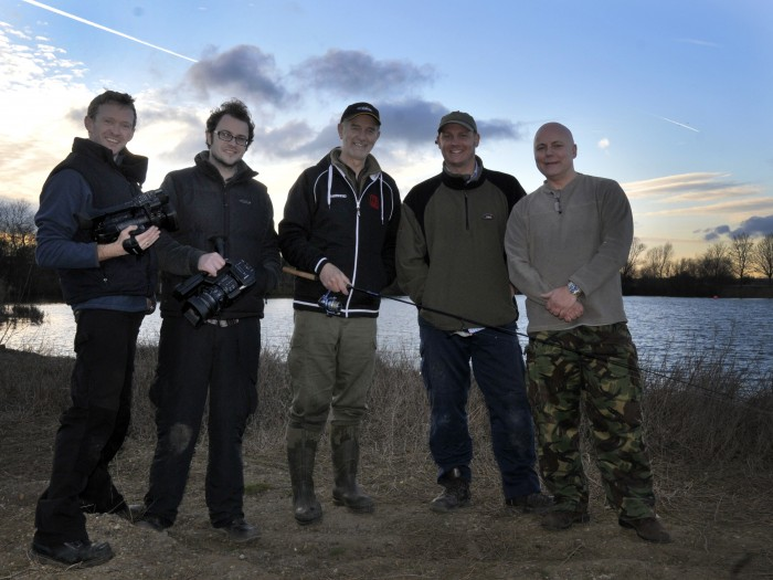 'On set' filming Broadland Pike with our clients at the Broads Angling Strategy Group & Piking legend Mick Brown.